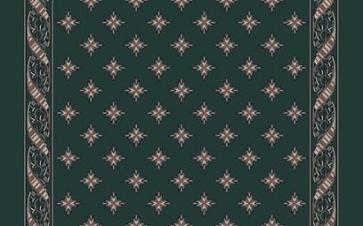woven ribbon corridor  green
