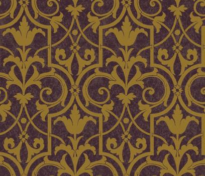 patinated flowerwork  purple