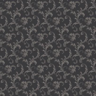 scroll rose  grey