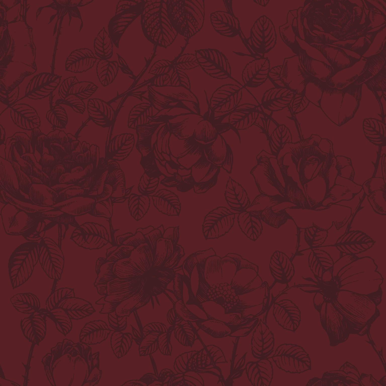 rose etching  red