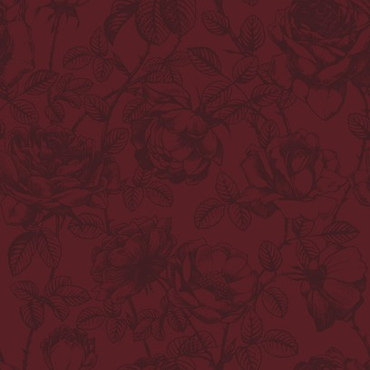 rose etching  red