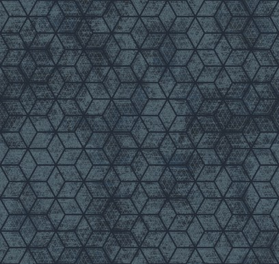 hexagon grid blue