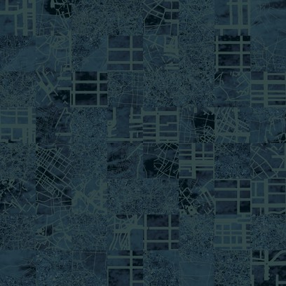 aerial map - blue