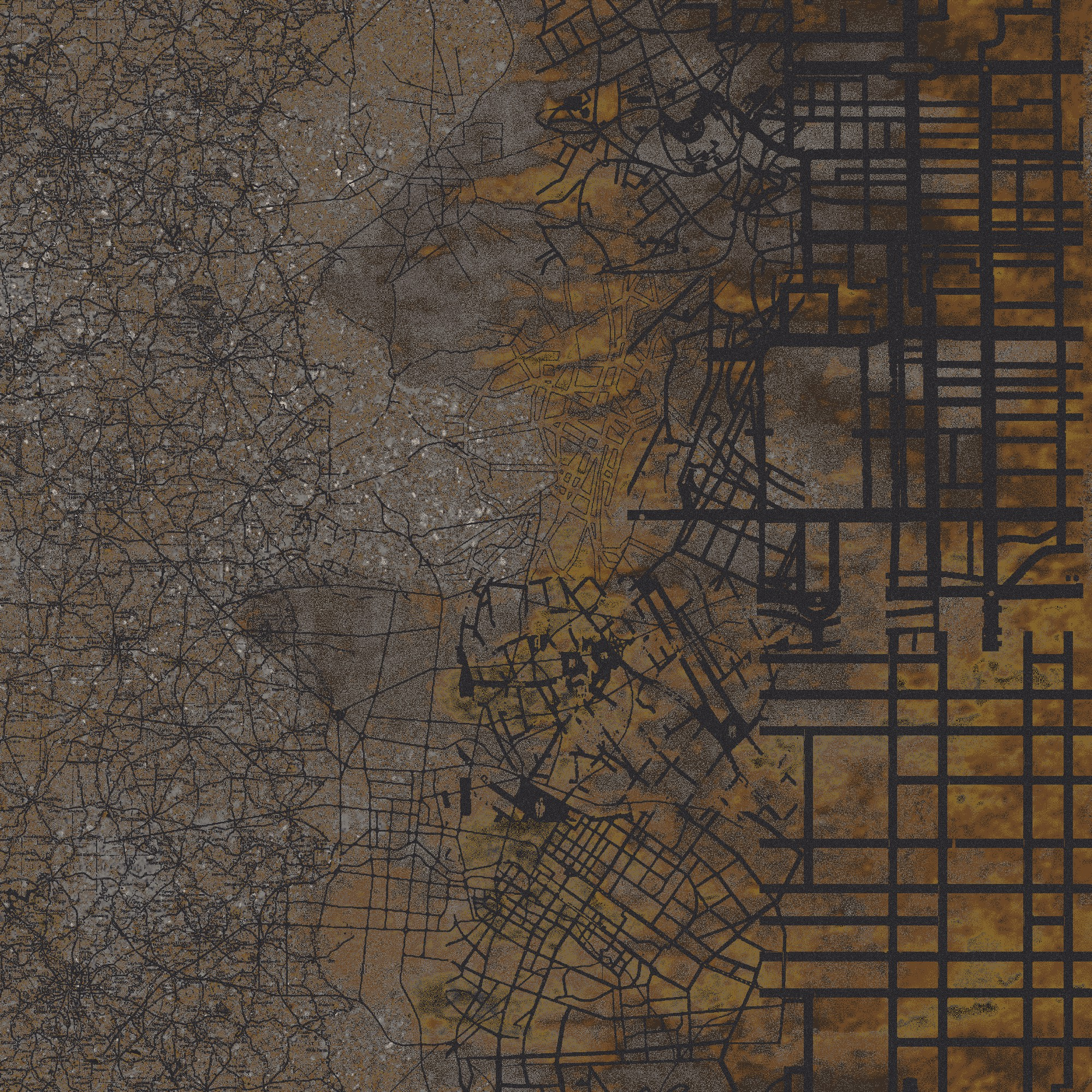 Aerial Map  brown